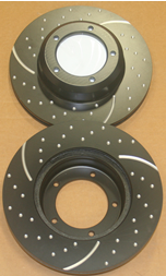 LR017951CDG RECOVERY Land Rover DEFENDER Drilled /& Grooved Front Brake Discs
